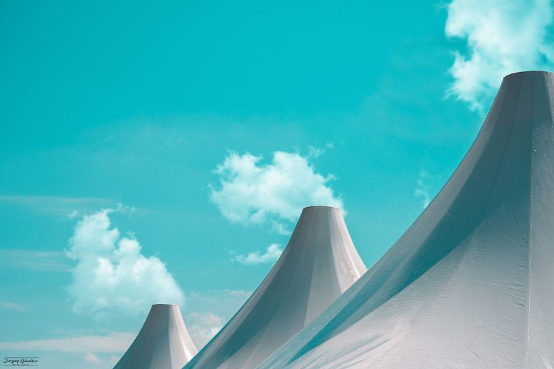 architecture, city, urban, abstract, blue, clouds, light, tents, Russia, Rostov on Don  Шатрыphoto preview