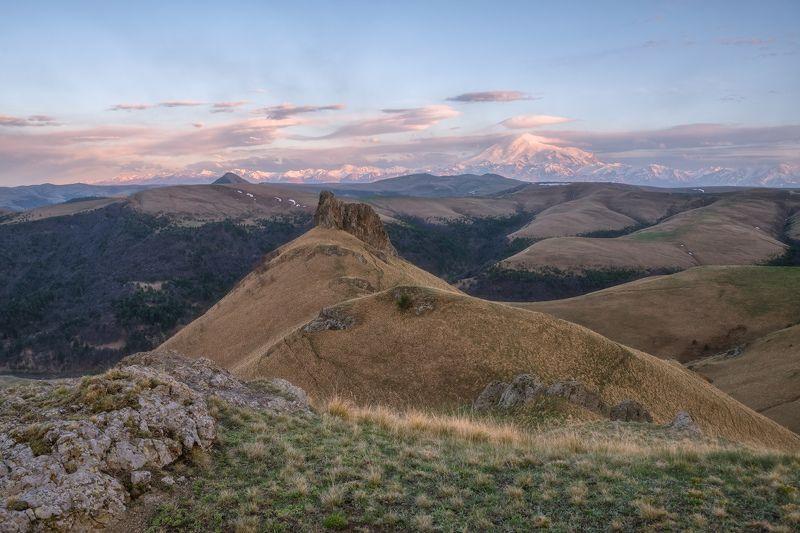 северный кавказ, карачаево-черкессия, весна, эльбрус, закат На просторах Карачаево-Черкессииphoto preview