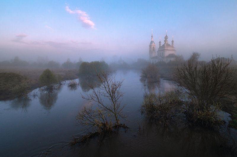 туман, храм, утро Весеннее утро в с. Савинскоеphoto preview