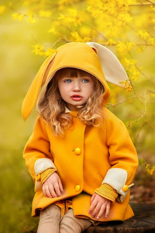 дети модели, детский фотограф москва, весенняя фотосессия, портрет, детский портрет, Детской фотограф москва Солнечный зайкаphoto preview