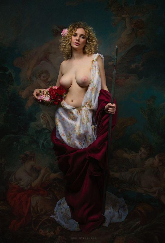 ню, nude, богиня, миф Персефонаphoto preview