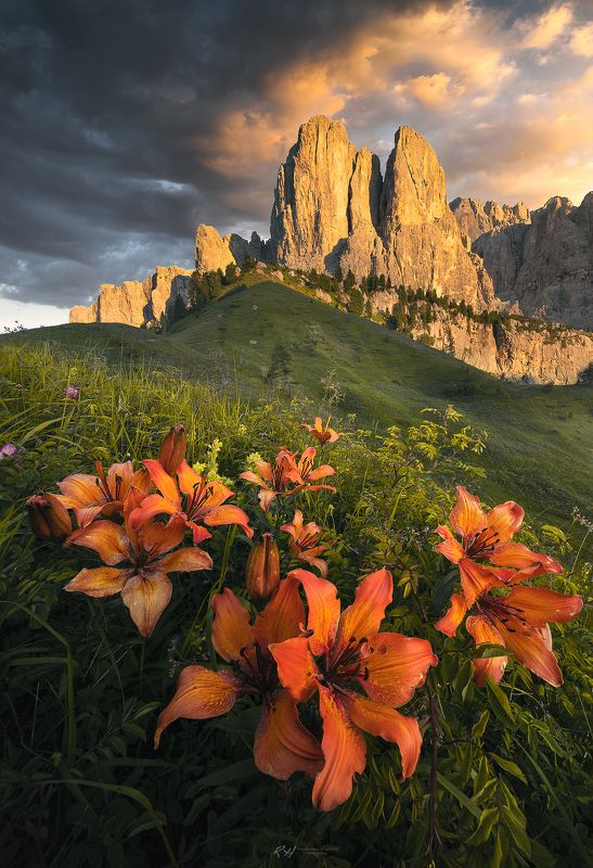 #landscape #mountains #dolomites #italy #sunset Lily explosionphoto preview