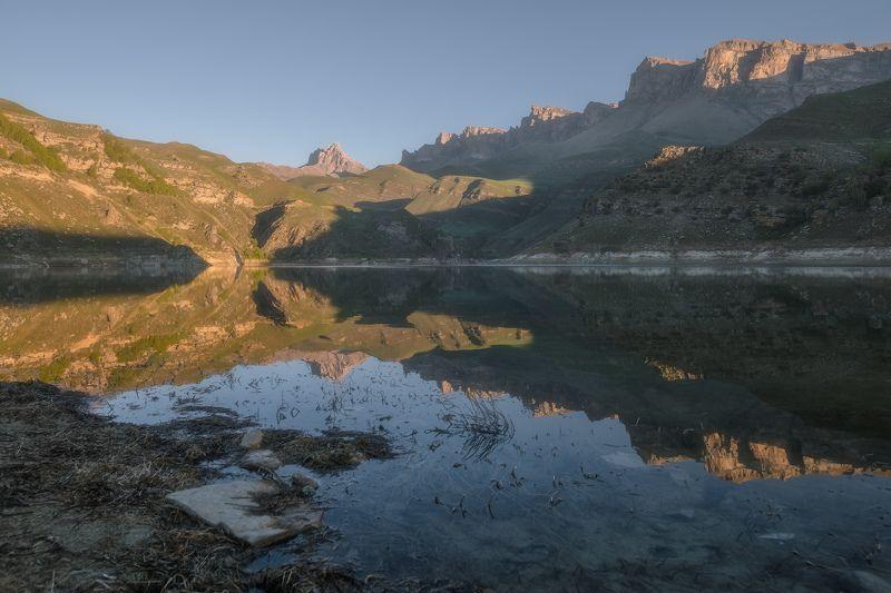 кавказ, кабардино-балкприя, былым, гижгит, озеро, рассвет, скалистый хребет Кабардино-Балкария. Гижгит.photo preview