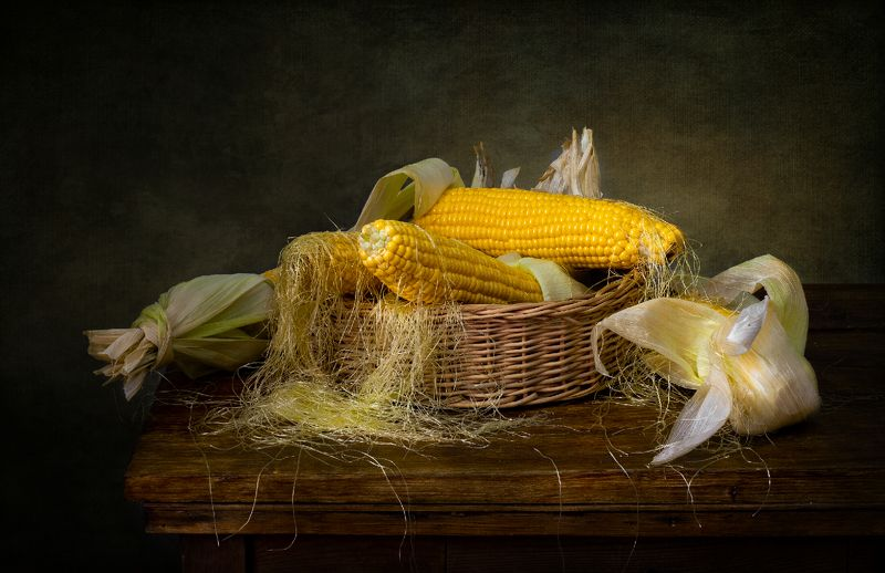 натюрморт, кукуруза Кукурузаphoto preview