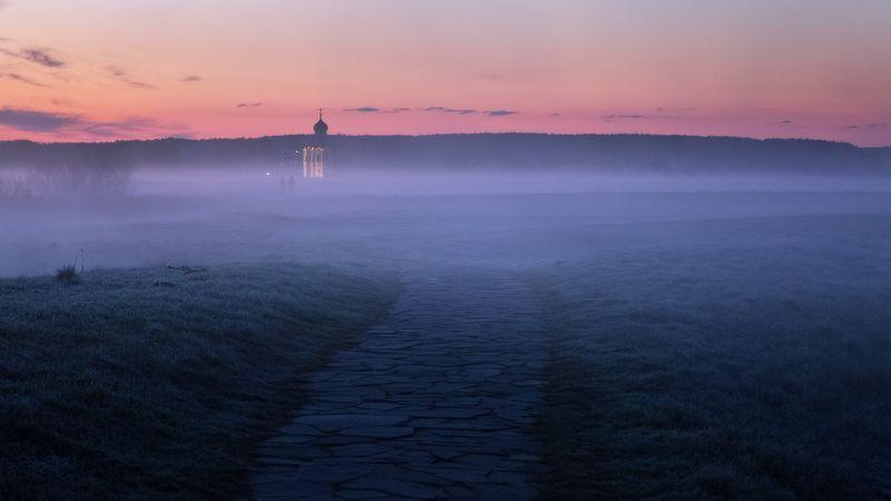 туман, храм, утро, боголюбово Раннее утро в Боголюбовоphoto preview