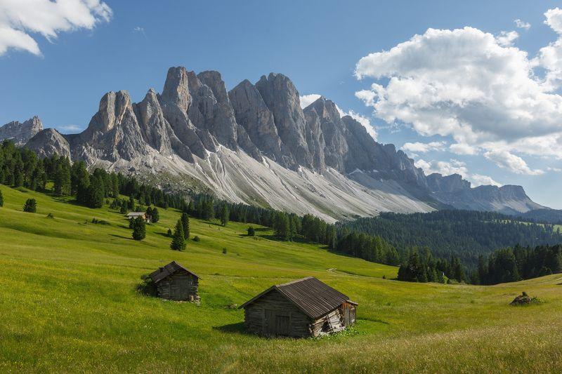 италия, доломиты, горы, облака, природа, landscape, italy, dolomites, geisler Альпийский пейзаж.photo preview
