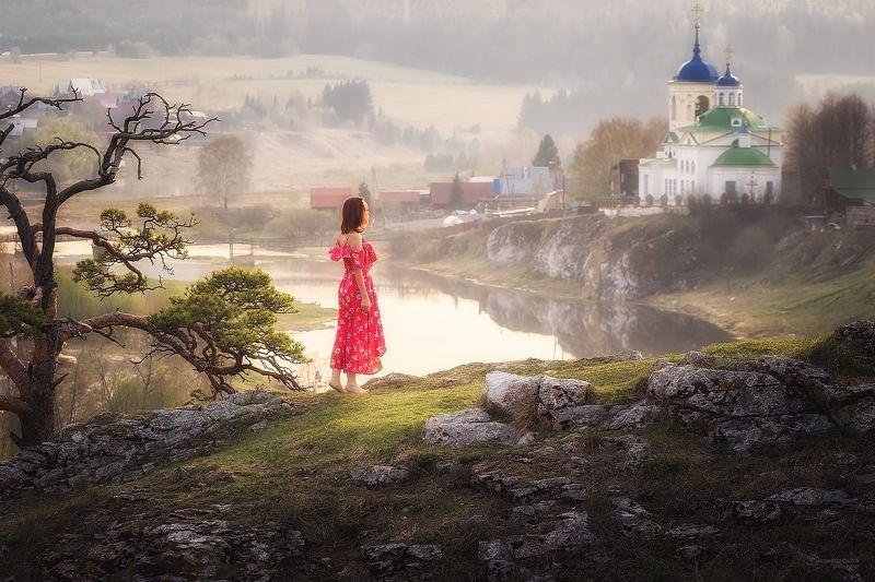 Весенний вечер в Уральской глубинкеphoto preview