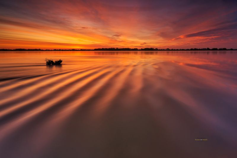 water, landscape, sunrise, clouds, colors, wrinkles, Water wrinkles.photo preview