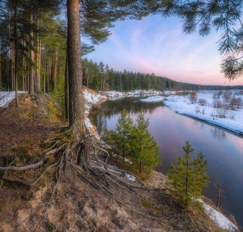 Весенний вечер на берегу рекиphoto preview