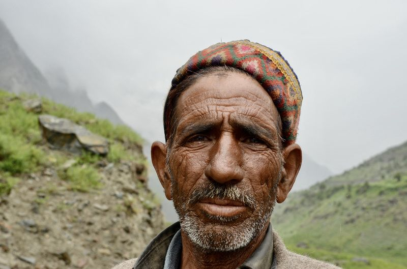 Portrait, man, male, Himalaya, India, mountain, old age, hard life, shepherd, travel, daily life,  Гималайский пастухphoto preview