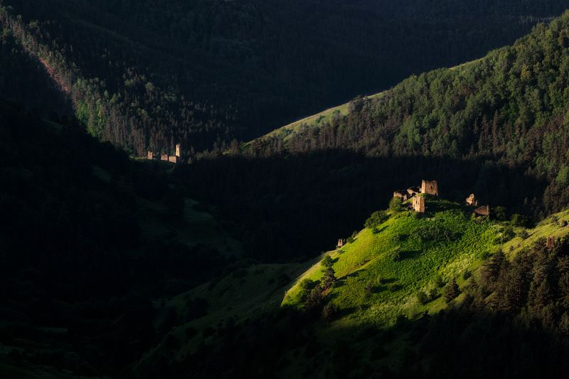 кавказ, рассвет, горы, солнце, fujifilm На рассвете... Горная Ингушетия.photo preview