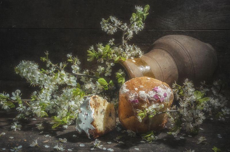 кулич,пасха,цветение,кринка,праздник,деревенский Пасхальныйphoto preview
