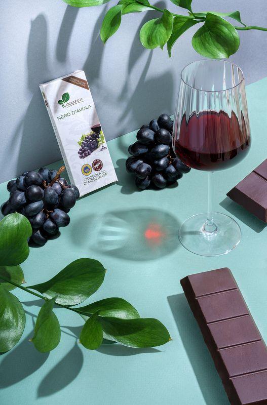 шоколад, вино, виноград, имиджевое фото, реклама, предметка, product photo Шоколадphoto preview