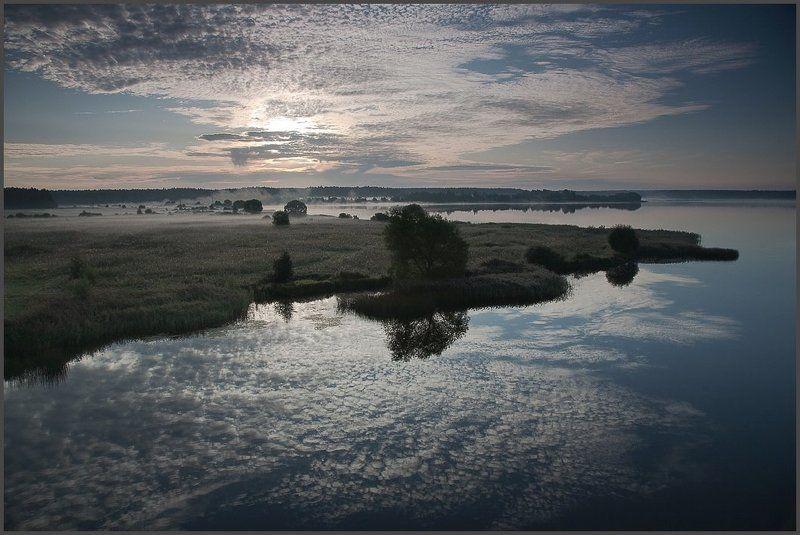 Сентябрьское утро на реке Жабня.photo preview
