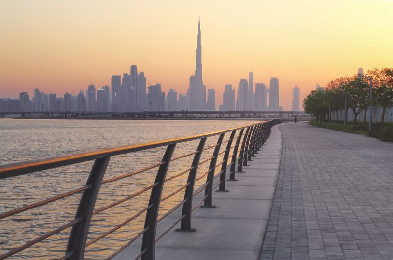 дубай, оаэ, dubai, uae Дубайский закатphoto preview