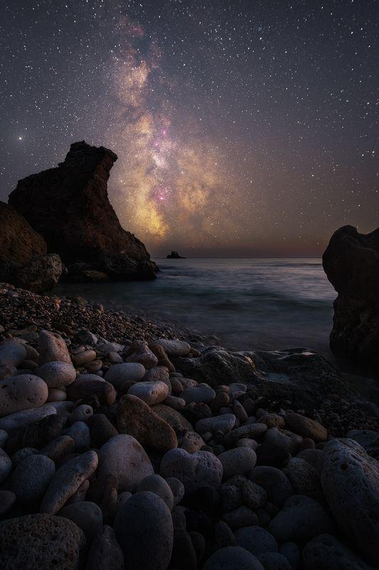 ночь,звезды, астро, млечный путь, milky way, крым, юбк, черное море, фиолент, осень Ворота Галактикиphoto preview