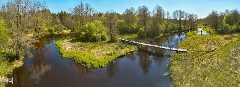 беларусь, весна, май, панорама, река, узлянка Весна на Узлянкеphoto preview