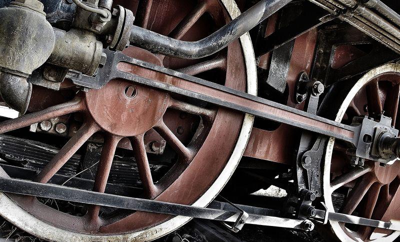 ferro,ferrovia,passato,ruote,raggi, sbarre,binario, caldaia, Locomotivaphoto preview