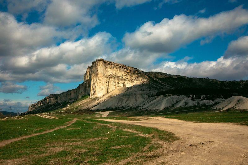 пейзаж, природа, солнце, день, горы, крым Белая скалаphoto preview