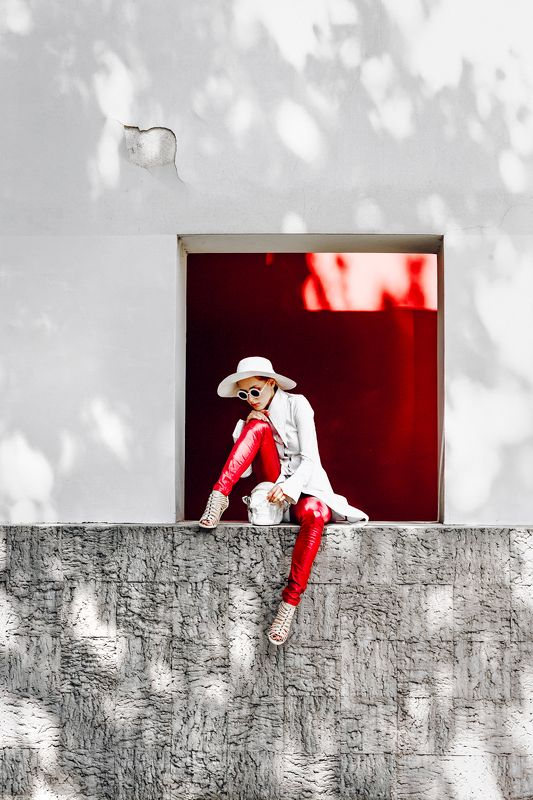 woman, portrait, fashion, beauty, outdoors The Red Squarephoto preview
