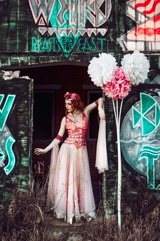 woman, portrait, fashion, beauty, outdoors The Flower Fairyphoto preview