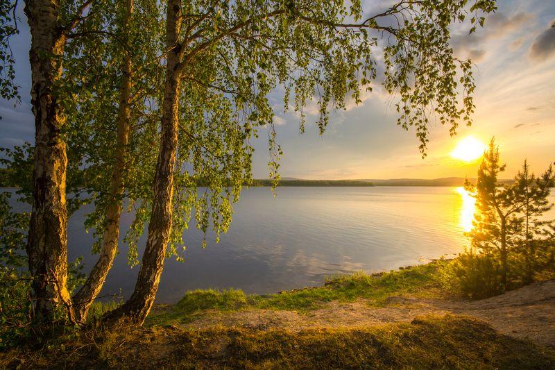 май заря вода закат урал солнце Майская заряphoto preview