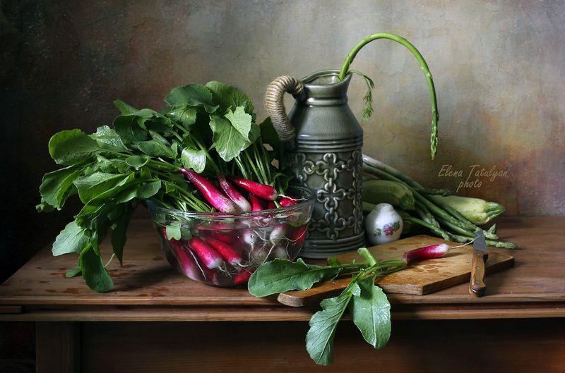 редиска Вегетарианский натюрморт фото превью
