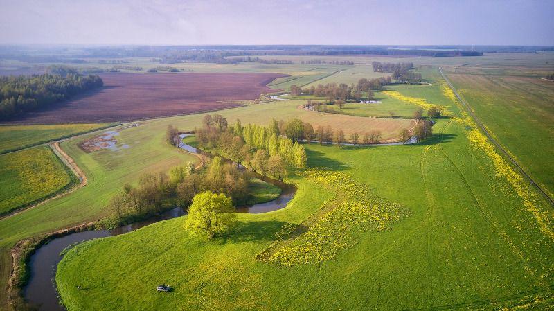 беларусь, весна, май, поля, рассвет, река, уса, утро Весна пришлаphoto preview