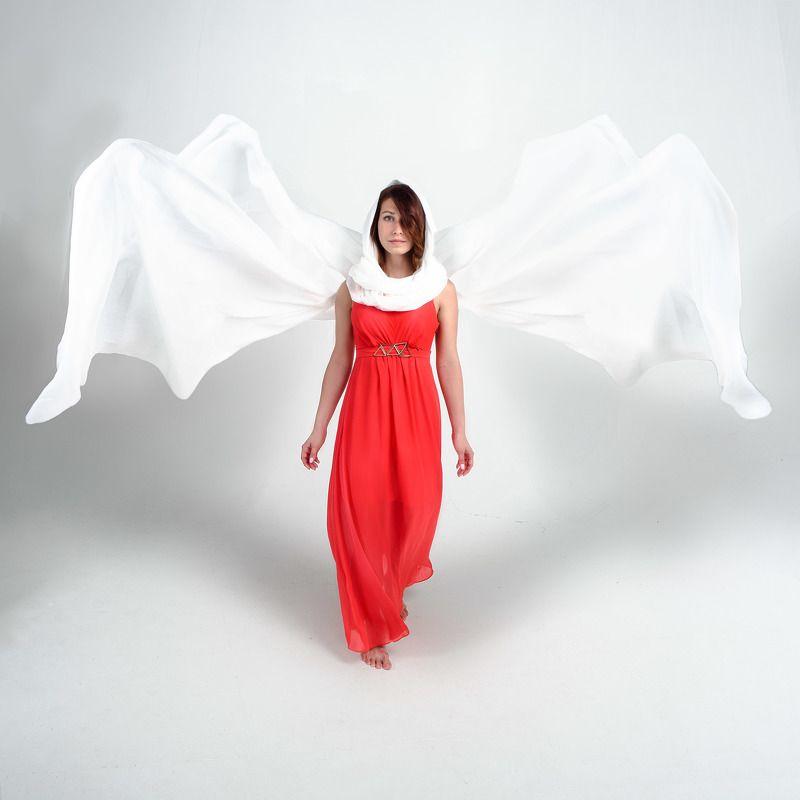 красное ткань ветер крылья Про крыльяphoto preview
