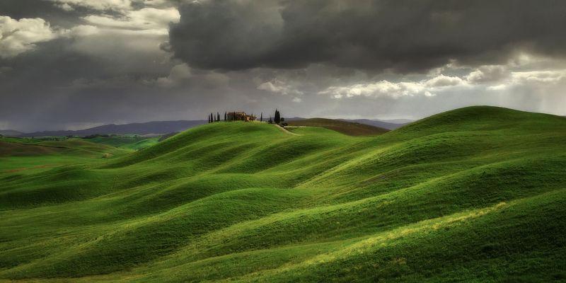 tuscany, тоскана, tuscany photos landscape, весенняя тоскана, пейзажи тосканы, tuscany landscape photography, toscana, green hills Tuscany fieldsphoto preview