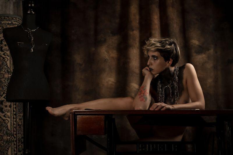 portrait, nude, finenudes, female the cruel seamstressphoto preview