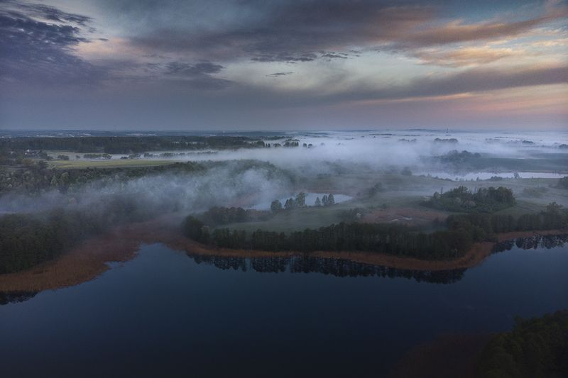 Misty morning by the lakephoto preview