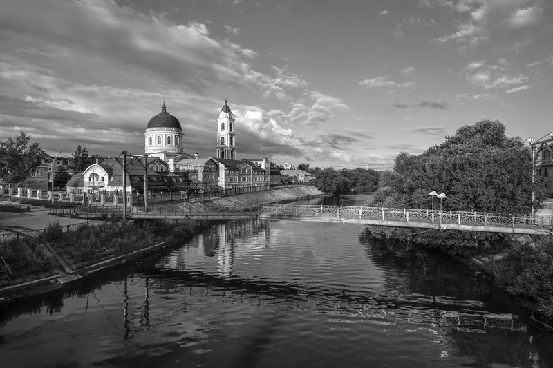 город,собор,река.небо,облака,утро,рассвет ***photo preview