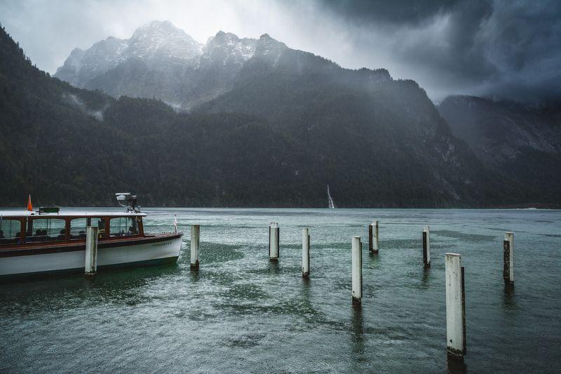 озеро; горы; лес; альпы; германия Шторм надвигаетсяphoto preview