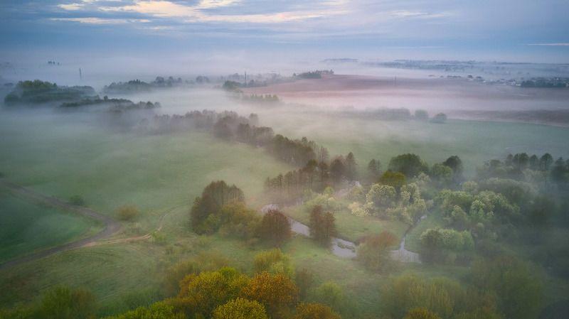 беларусь, весна, дождь, май, минск и окрестности, рассвет, туман, утро Хмурый майphoto preview