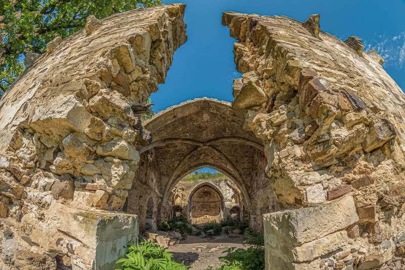 Old ruins armenian church in Crimea.photo preview