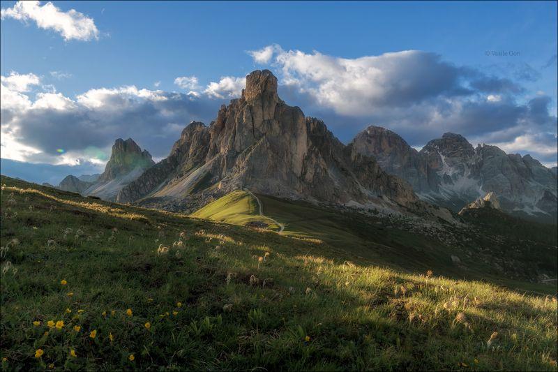доломитовые альпы,passo giau,панорама,лето,италия,alps,пейзаж,dolomites, \