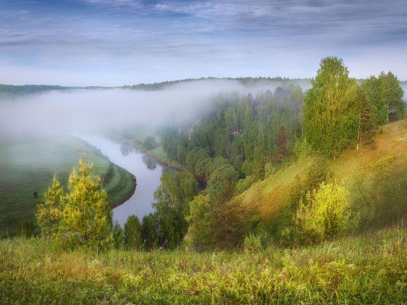 немда, весна, туман Утренний майский туманphoto preview