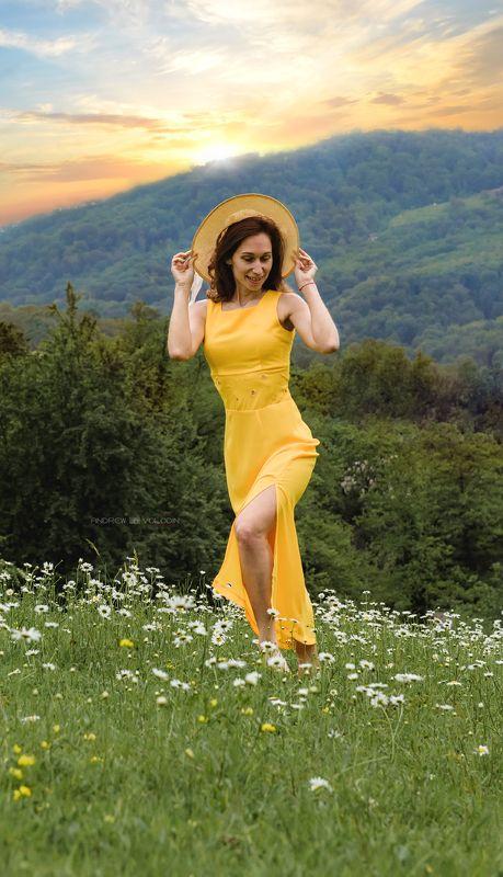 ромашки девушка поле портрет шляпка сочи Ромашкиphoto preview