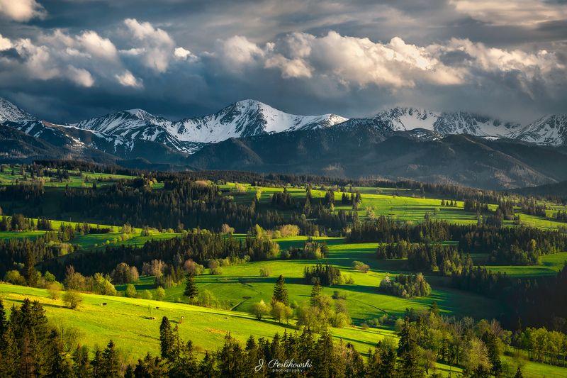 spring, mountains, tatras, green Spring under the mountainsphoto preview