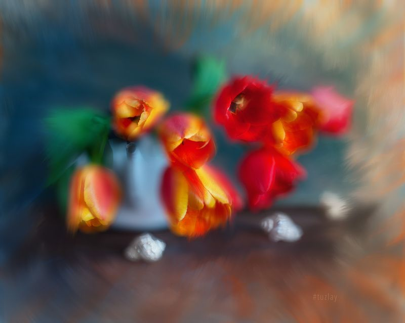 тюльпаны Фантазия с тюльпанамиphoto preview