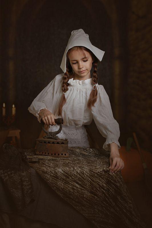 дети портрет сказка девочка Золушка фото превью