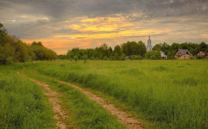 пейзаж, подмосковье, дубна, лето, утро Подмосковноеphoto preview