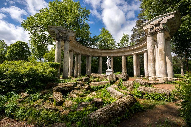 коллонада, апполон, парк, развалины, руины, античный Руины древней цивилизацииphoto preview