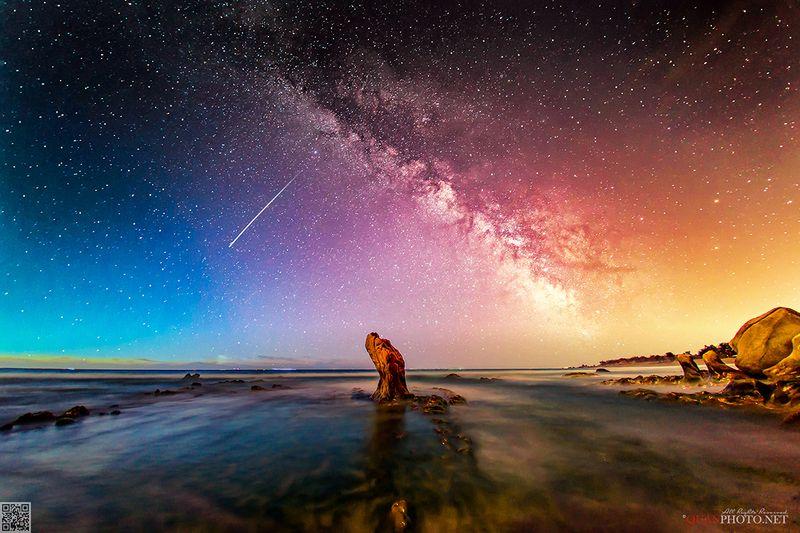quanphoto, astrophotography, milkyway, night, beach, rocks, long_exposure, vietnam The Starry Nightphoto preview