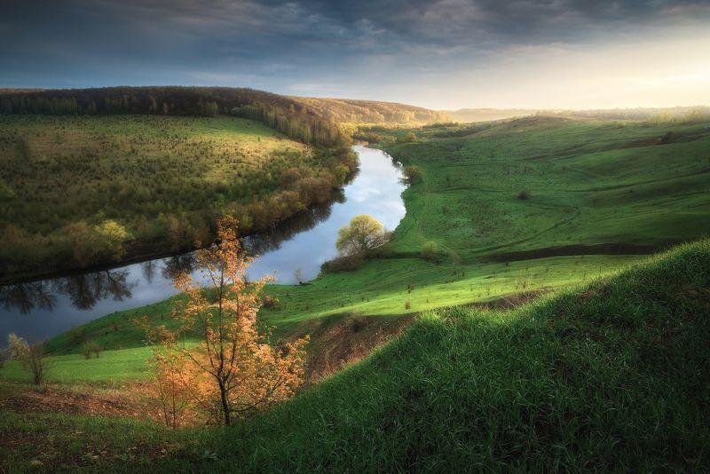 тульская область, ефремов, ведьмино, козье, красивая меча, тульская швейцария, река, реки россии, холмы, высокий берег, гроза, грозовое небо, майская зелень, весна, весенняя зелень, май, весенний пейзаж В перерыве меж майскими грозамиphoto preview