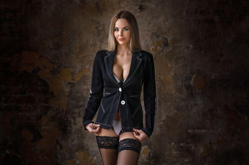 портрет девушка взгляд portrait белье красиво Ритаphoto preview