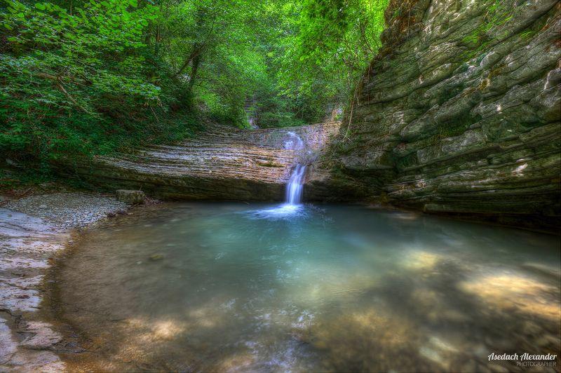 пейзаж, вода, водопад, лето, зелень, пшада По дороге к Пшадскому водопадуphoto preview