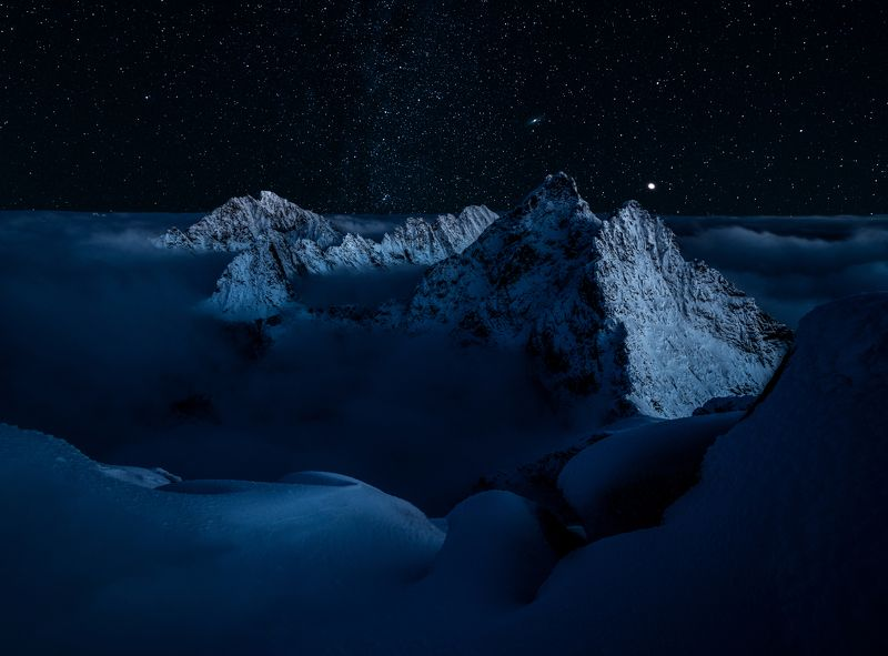 @landscape, @mountains, @nightscape, @slovakia, @photography, @milkyway, @slovensko Starry nightphoto preview