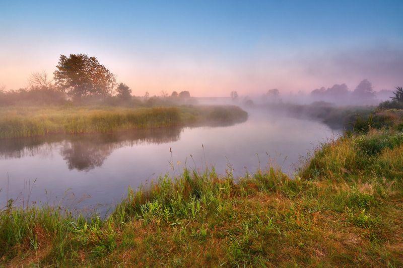 беларусь, июнь, лето, неман, рассвет, река, туман, утро А лето пришлоphoto preview